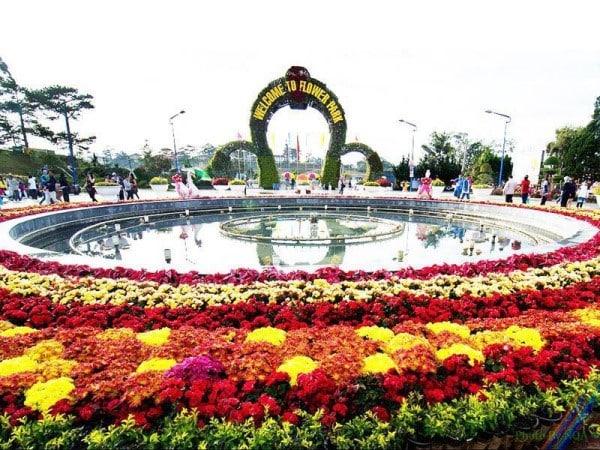 Vườn hoa thành phố Đà Lạt khá nổi tiếng