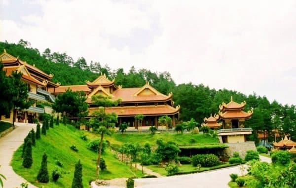 Một góc Thiền viện Trúc Lâm Đà Lạt