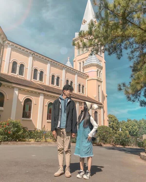 Hình ảnh check-in nhà thờ con gà trống Đà Lạt - Ảnh 2