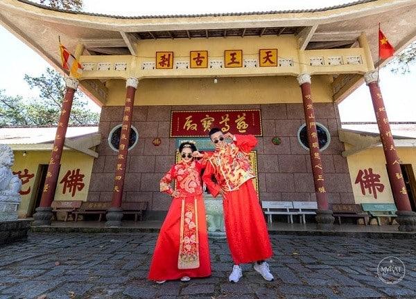 Chùa Tàu - Địa điểm chụp ảnh cưới đẹp tại Đà Lạt