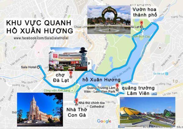 Những địa điểm du lịch nằm gần quảng trường Lâm Viên
