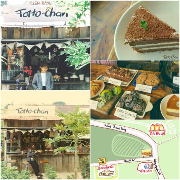 Totto-chan bakery is specially decorated in retro style