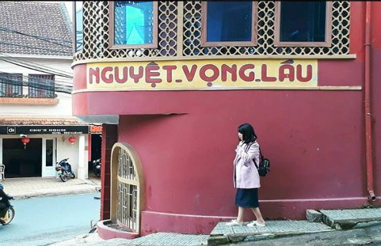 Check-in location at Nguyet Vong Lau in Da Lat
