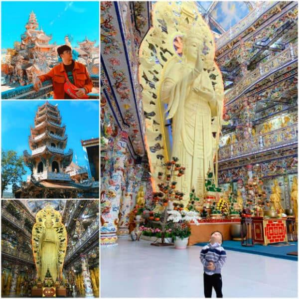Chùa Linh Phước ngôi chùa giữ nhiều kỷ lục của Việt Nam