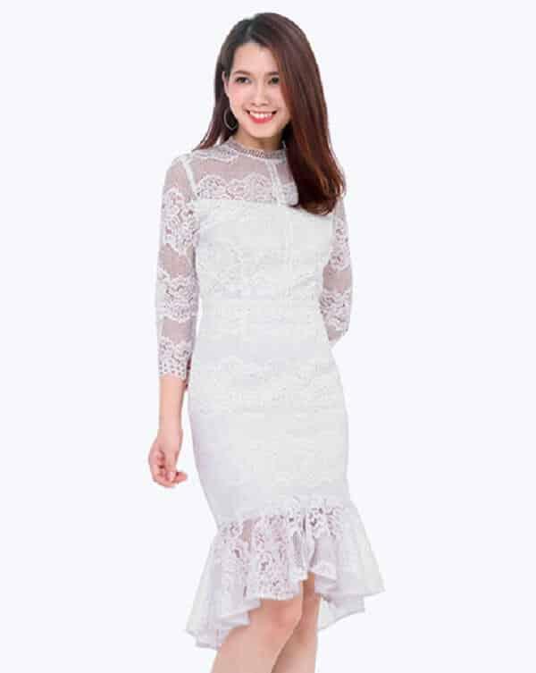 Đầm đuôi cá trắng