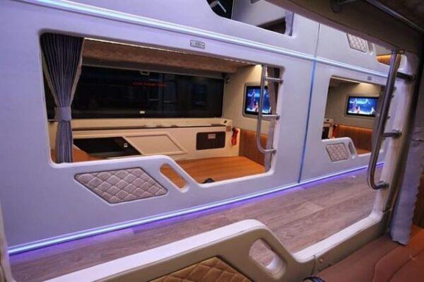 Không gian thoải mái trên tuyến xe VIP Thành Bưởi đi Đà Lạt