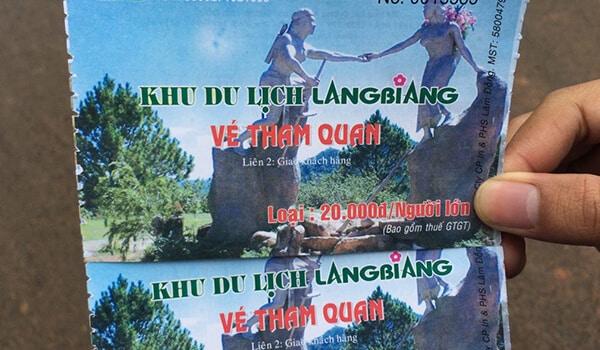Giá vé tham quan núi Langbiang