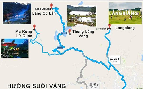 Hướng dẫn chỉ đường đến núi Langbiang