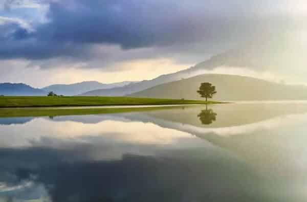 Hồ Suối Vàng những ngày nắng
