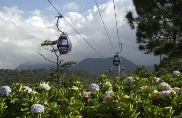Điểm du lịch cáp treo Đà Lạt gần thác Prenn