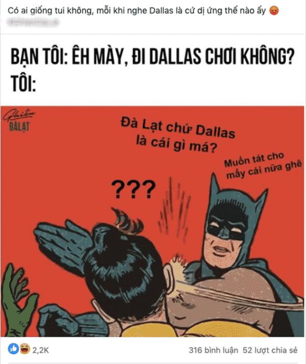 Ảnh chế: Đà Lạt chứ không phải Dallas từ một cư dân mạng