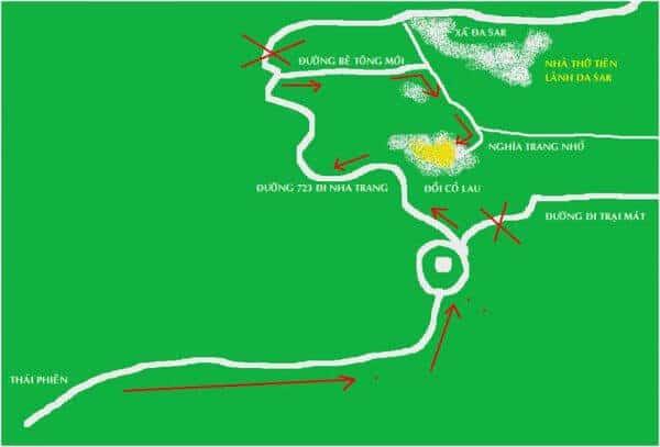 Bản đồ chỉ đường đi tới cánh đồng cỏ lau Đà Lạt