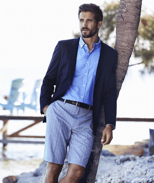 Quần short, áo sơ mi và vest mỏng