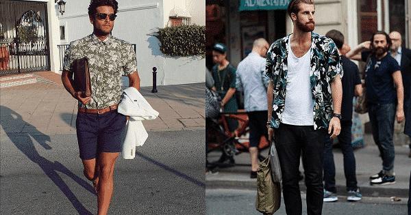 Áo Hawaii và quần short