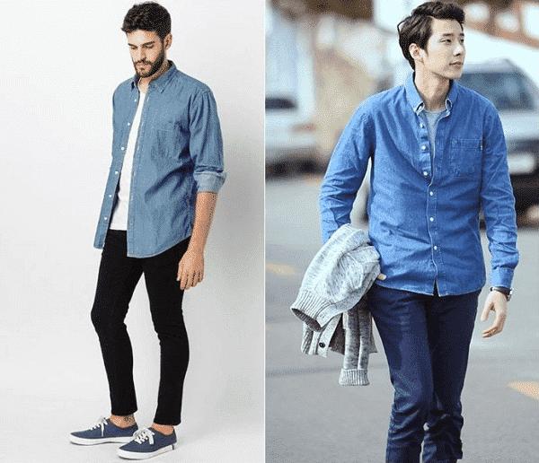 Áo thun, quần jeans và áo khoác ngoài