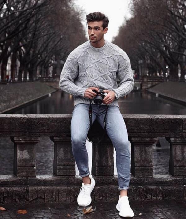 Áo Len và quần jeans