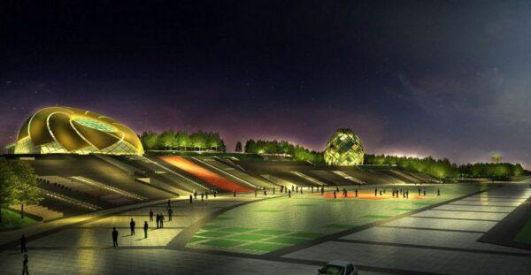 Hình ảnh Quảng trường Lâm Viên về đêm