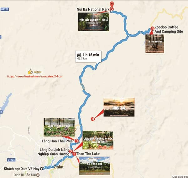 Những địa điểm tham quan trên tuyến đường ngắm hoa Ban Đà Lạt